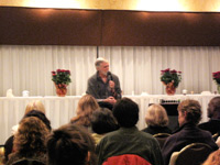 Enable your image view to see photo of Duane at seminar